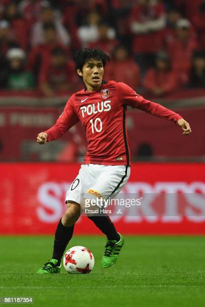 Yosuke Kashiwagi of Urawa Red Diamonds in action during the JLeague J1 match between Urawa Red Diamonds and Vissel Kobe at Saitama Stadium on October...