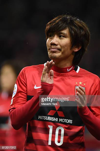 Yosuke Kashiwagi of Urawa Red Diamonds looks on after the AFC Champions League Group H match between Urawa Red Diamonds and Sydney FC at Saitama...