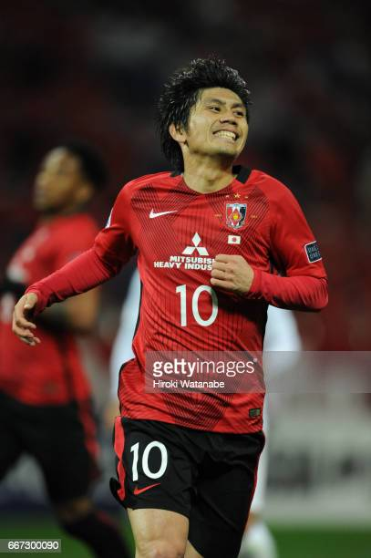 Yosuke Kashiwagi of Urawa Red Diamonds looks on during the AFC Champions League Group F match between Urawa Red Diamonds and Shanghai SIPG FC at...