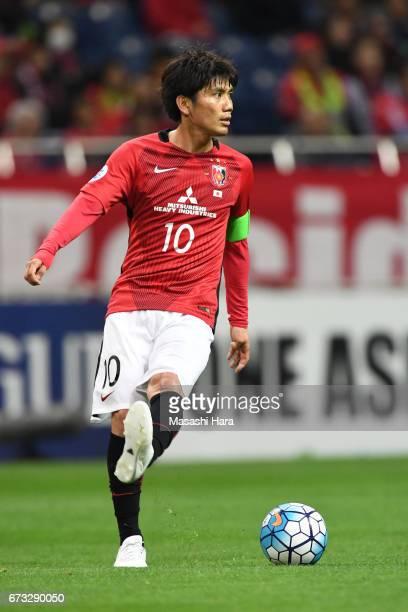 Yosuke Kashiwagi of Urawa Red Diamonds looks on during the AFC Champions League Group F match between Urawa Red Diamonds and Western Sydney at...