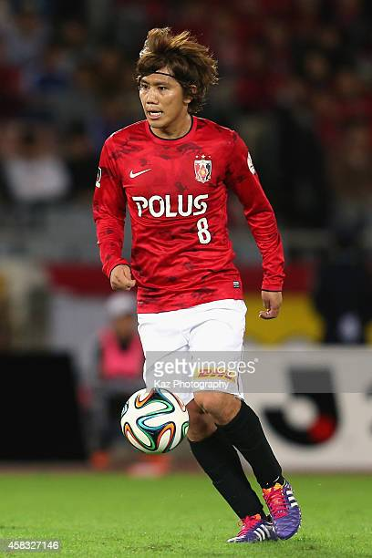 Yosuke Kashiwagi of Urawa Reds in action during the JLeague match between Yokohama FMarinos and Urawa Red Diamonds at Nissan Stadium on November 3...