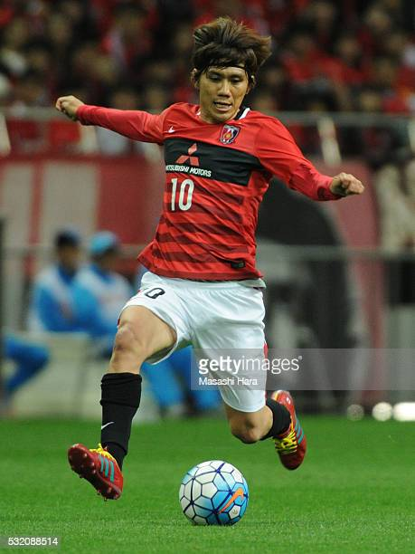 Yosuke Kashiwagi of Urrawa Red Diamonds in action during the AFC Champions League Round of 16 First Leg match between Urawa Red Diamonds and FC Seoul...