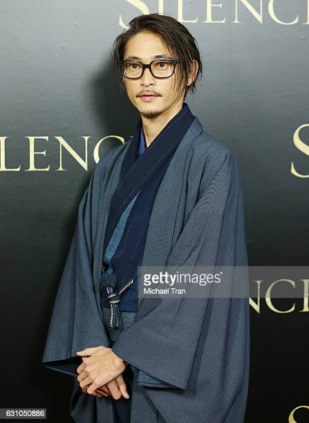 Yosuke Kubozuka arrives at the Los Angeles premiere of Paramount Pictures' 'Silence' held at Directors Guild of America on January 5 2017 in Los...