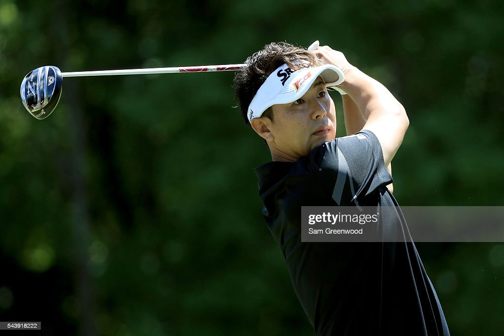 Yosuke Tsukada of Japan hits off the sixth tee during the first round of the World Golf Championships - Bridgestone Invitational at Firestone Country Club South Course on June 30, 2016 in Akron, Ohio.