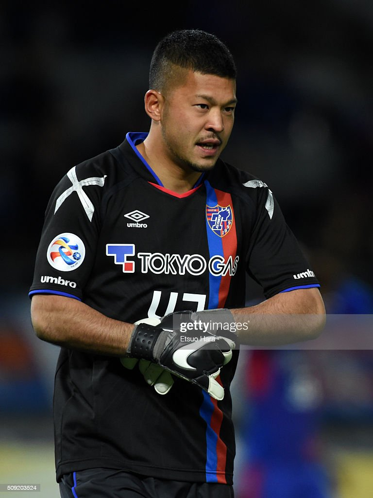Yota Akimoto of FC Tokyo looks on during the AFC Champions League playoff round match between FC Tokyo and Chonburi FC at the Tokyo Stadium on February 9, 2016 in Chofu, Japan.