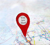 You Are Here locator symbol on a map