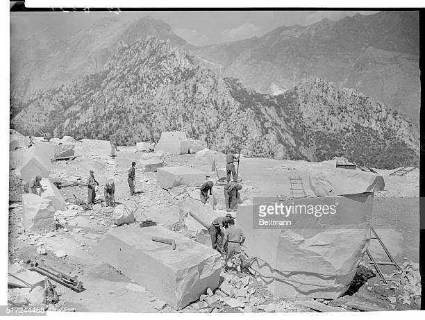 You are looking down from an elevation at the Carrara Mountain Gulch from which was taken the 50 ton block of fine Cararra marble that was the raw...