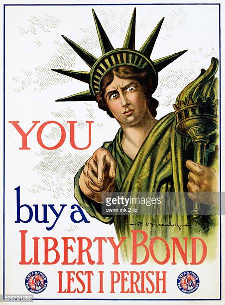 You Buy a Liberty Bond Lest I Perish Poster by CR Macauley