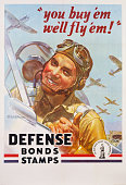 'You Buy 'Em We'll Fly 'Em' Poster by J Walter Wilkinson and Walter G Wilkinson