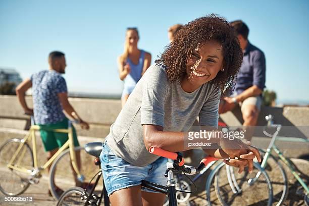 Du kannst nicht traurig, während Sie auf einem Fahrrad