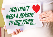 You Don't Need a Reason to Help People on white paper