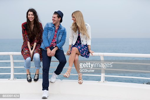 You guys are the best thing ever happened to me! : Stock Photo