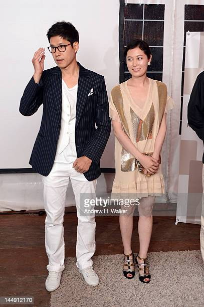 You junsang and Moon sori attend the Sake Night Korean Party during the 65th Annual Cannes Film Festival on May 20 2012 in Cannes France