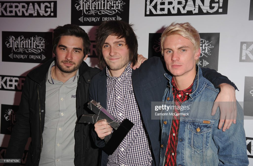 You Me At Six with their Best British Band award during The Relentless Energy Drink Kerrang! Awards at The Brewery on June 9, 2011 in London, England.