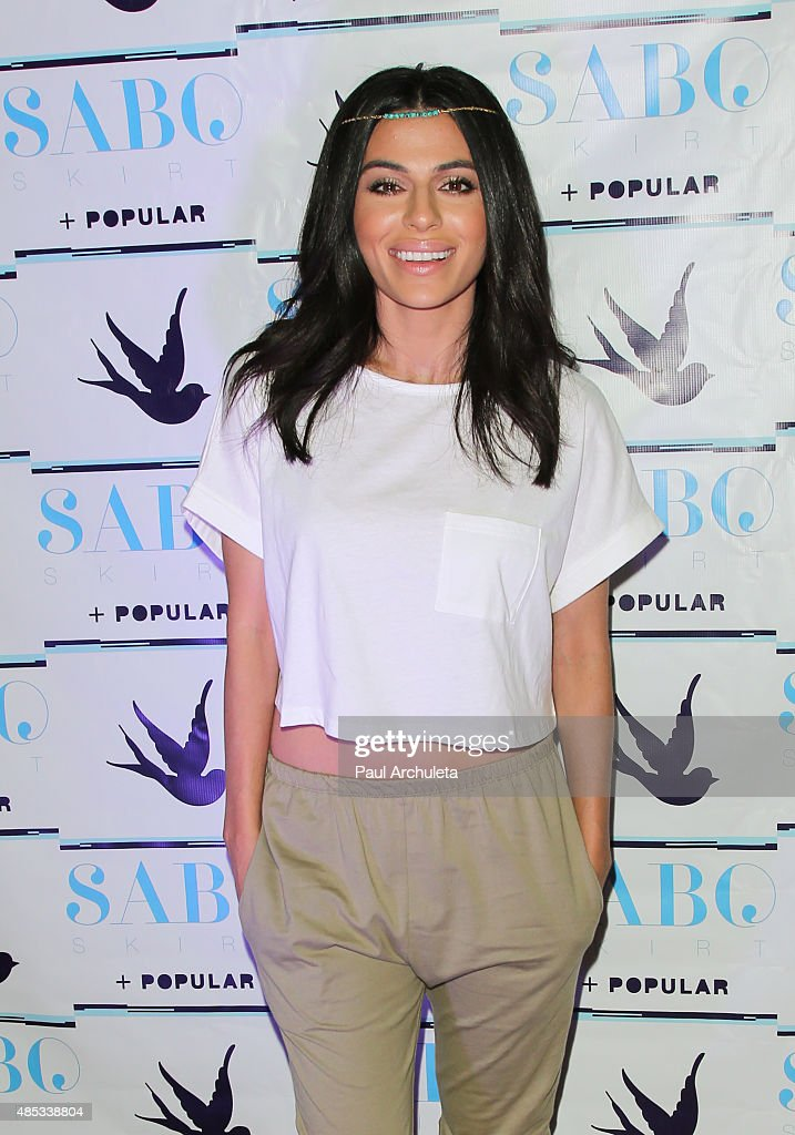 You Tube Personality Teni Panosian attends Sabo Skirt's 2015 PreVMA Party at SkyBar at the Mondrian Los Angeles on August 26 2015 in West Hollywood...