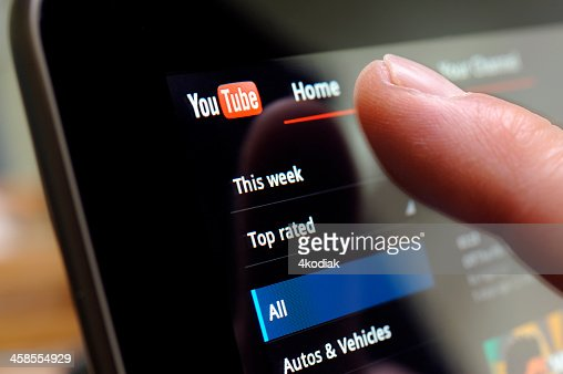 You Tube Web Site on Tablet PC