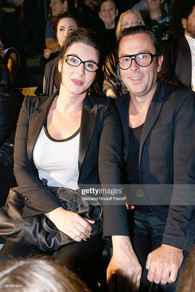 Youcef Nabi alias Sue and friend attend Lanvin show as part of the Paris Fashion Week Womenswear Spring/Summer 2014, held at 'Ecole des beaux Arts on September 26, 2013 in Paris, France.