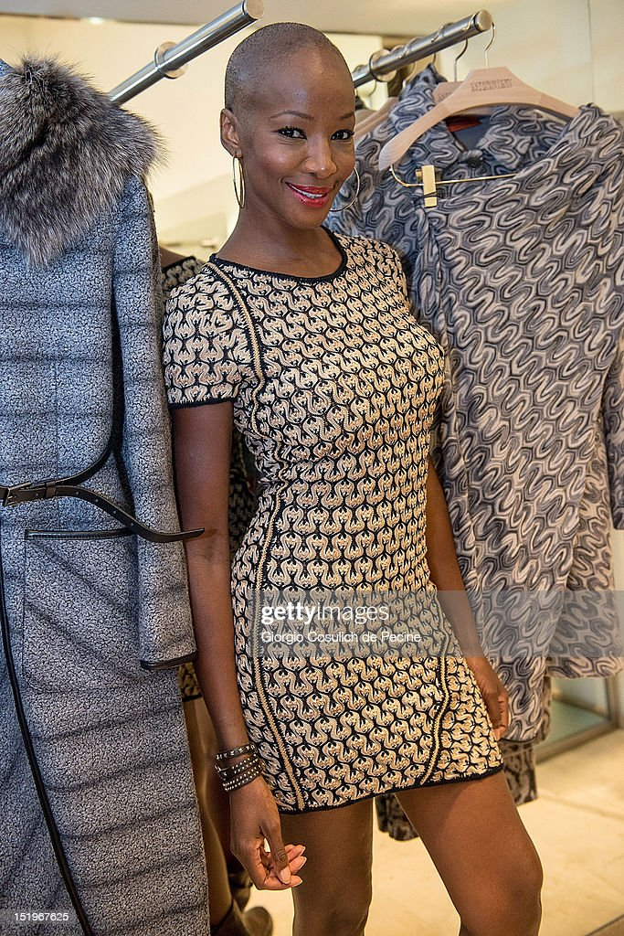 Youma Diakite poses during Rome Vogue Fashion's Night Out at Missoni shop on September 13, 2012 in Rome, Italy.