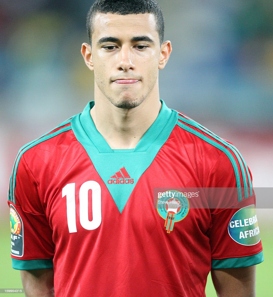 Younes Belhanda during the 2013 African Cup of Nations match between Morocco and Cape Verde at Moses Mahbida Stadium on January 23, 2013 in Durban, South Africa.