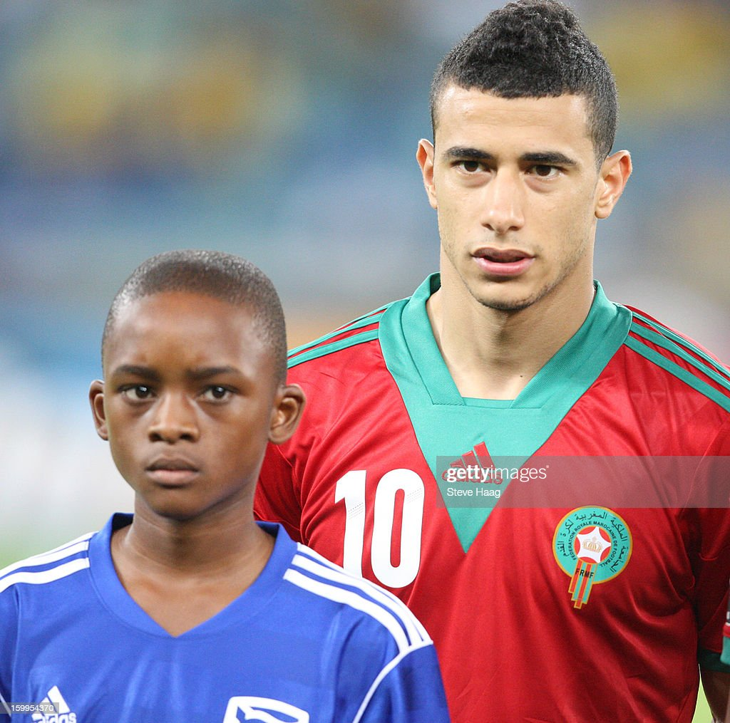 Younes Belhanda is shown during the 2013 African Cup of Nations match between Morocco and Cape Verde at Moses Mahbida Stadium on January 23, 2013 in Durban, South Africa.