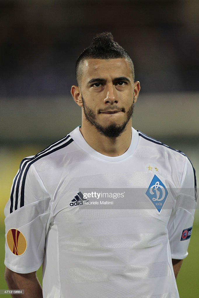 Younes Belhanda of FC Dynamo Kyiv during the UEFA Europa League Quarter Final match between ACF Fiorentina and FC Dynamo Kyiv on April 23, 2015 in Florence, Italy.