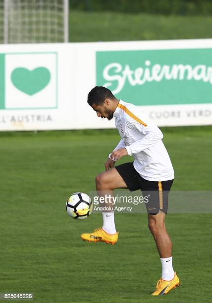 Younes Belhanda of Galatasaray attends a training session as part of the Turkish Spor Toto Super Lig new season preparations in Bad Waltersdorf town...