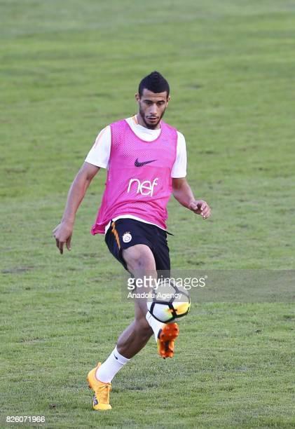 Younes Belhanda of Galatasaray attends a training session at Therme Stadium in Bad Waltersdor town of Graz Austria on August 03 2017