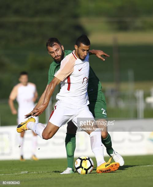 Younes Belhanda of Galatasaray in action during a friendly match between Galatasaray and Akhisar Belediyespor as part of the Turkish Spor Toto Super...