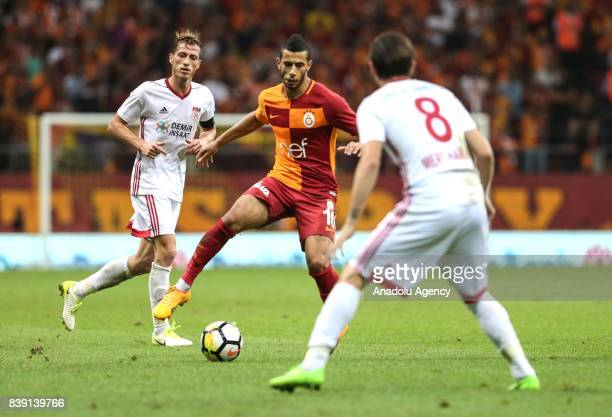 Younes Belhanda of Galatasaray in action during the Turkish Super Lig soccer match between Galatasaray and Demir Grup Sivasspor at Turk Telekom...