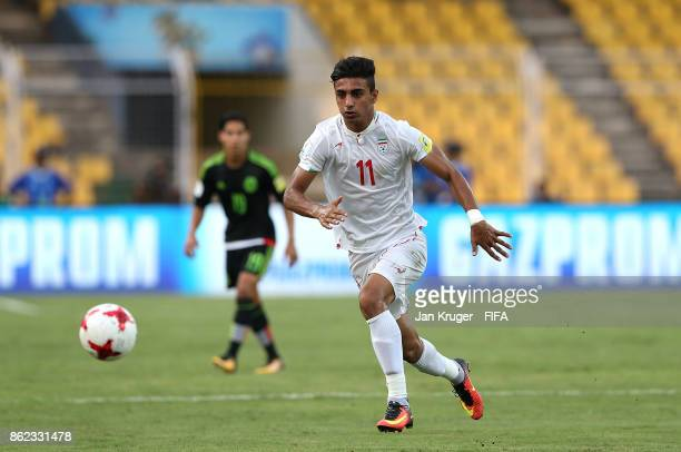 Younes Delfi of Iran controls the ball during the FIFA U17 World Cup India 2017 Round of 16 match between Iran and Mexico at Pandit Jawaharlal Nehru...
