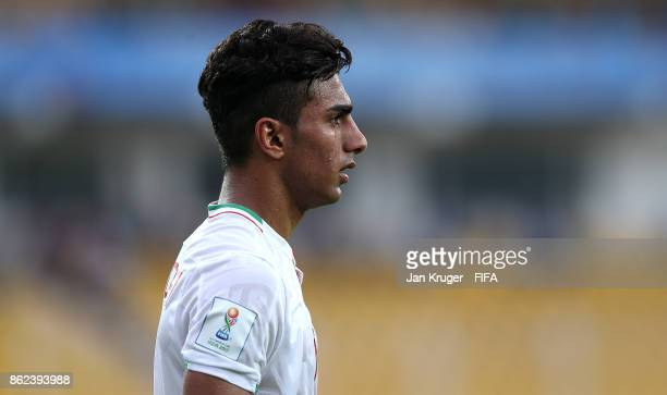 Younes Delfi of Iran during the FIFA U17 World Cup India 2017 Round of 16 match between Iran and Mexico at Pandit Jawaharlal Nehru Stadium on October...