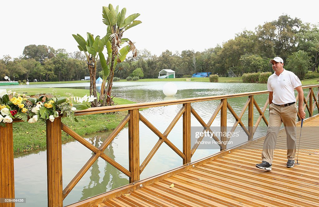 Younes El Hassani of Morocco walks to the green on the 9th hole during the first round of the Trophee Hassan II at Royal Golf Dar Es Salam on May 5, 2016 in Rabat, Morocco.