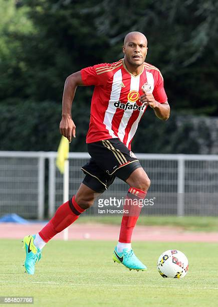 Younes Kaboul of Sunderland during the preseason friendly match between Sunderland AFC and Montpellier HSC at Stade Jacques Forestier on July 30 2016...
