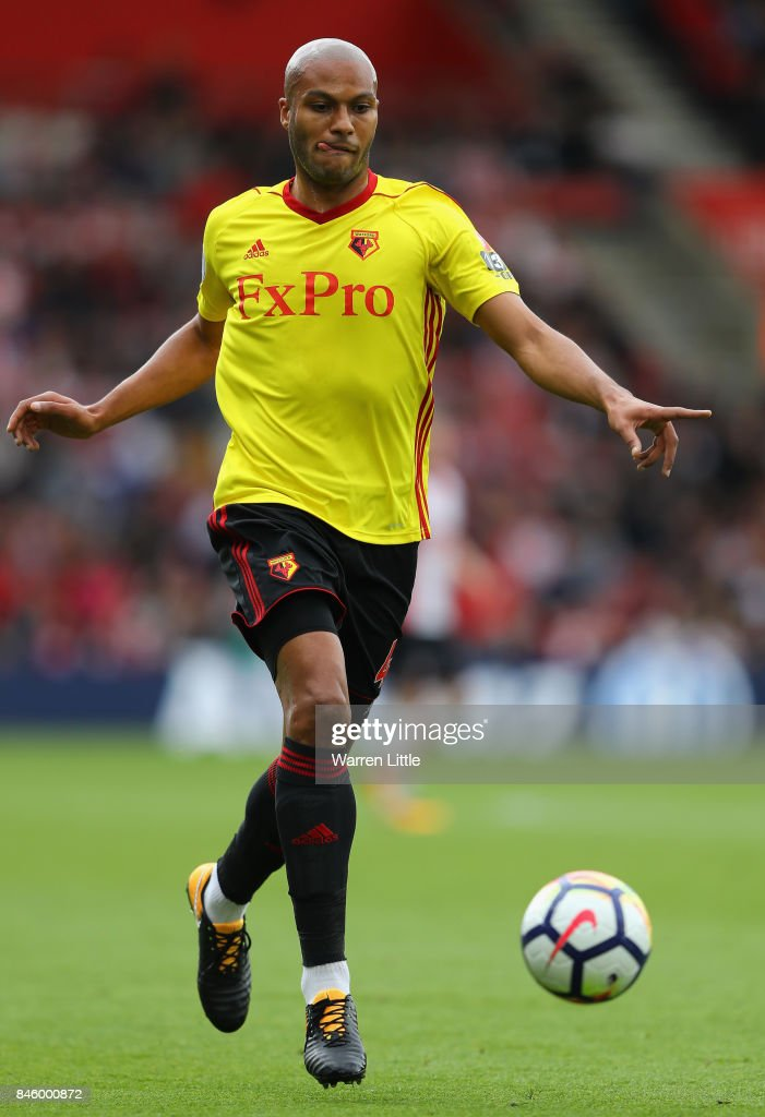 Younes Kaboul of Watford in action during the Premier League match between Southampton and Watford at St Mary's Stadium on September 9, 2017 in Southampton, England.