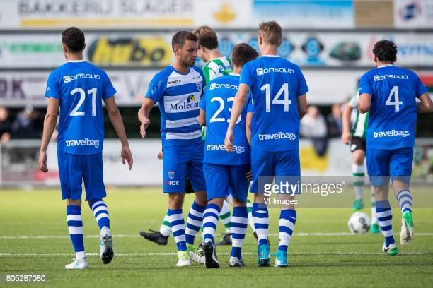 Younes Namli of PEC Zwolle Bram van Polen of PEC Zwolle Rik van Dalfsen of SC Genemuiden Erik Bakker of PEC Zwolle Erik Israelsson of PEC Zwolle Dirk...