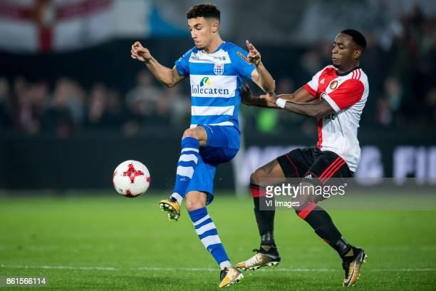Younes Namli of PEC Zwolle Ridgeciano Haps of Feyenoord during the Dutch Eredivisie match between Feyenoord Rotterdam and PEC Zwolle at the Kuip on...