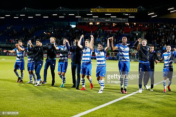 Youness Mokhtar of PEC Zwolle Anass Achahbar of PEC Zwolle Tarik Evre of PEC Zwolle Wouter Marinus of PEC Zwolle Danny Holla of PEC Zwolle Bram van...