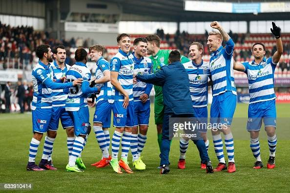 Youness Mokhtar of PEC Zwolle Dirk Marcellis of PEC Zwolle Hervin Ongenda of PEC Zwolle Django Warmerdam of PEC Zwolle Ryan Thomas of PEC Zwolle...