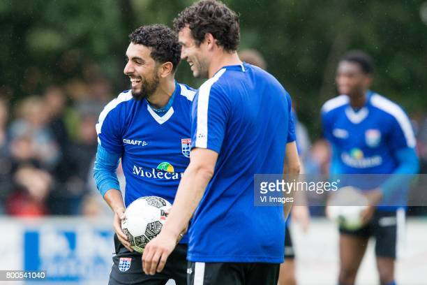 Youness Mokhtar of PEC Zwolle Dirk Marcellis of PEC Zwolleduring a training session at Sportpark De Elshof on June 24 2017 in Wijthem The Netherlands