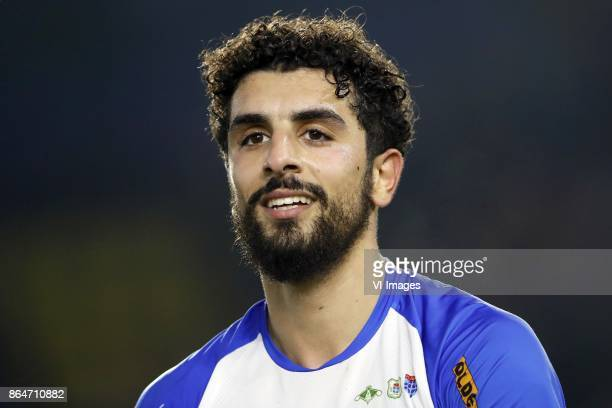 Youness Mokhtar of PEC Zwolle during the Dutch Eredivisie match between NAC Breda and PEC Zwolle at the Rat Verlegh stadium on October 21 2017 in...