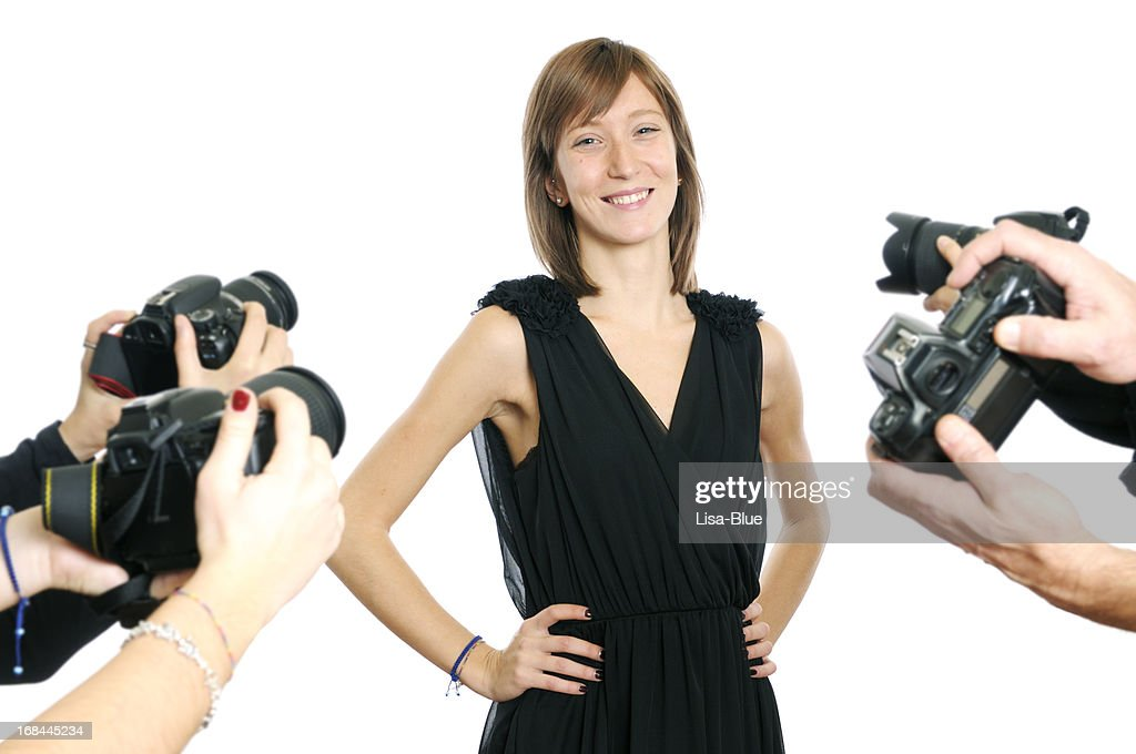 Young Actress and Paparazzi Photographer