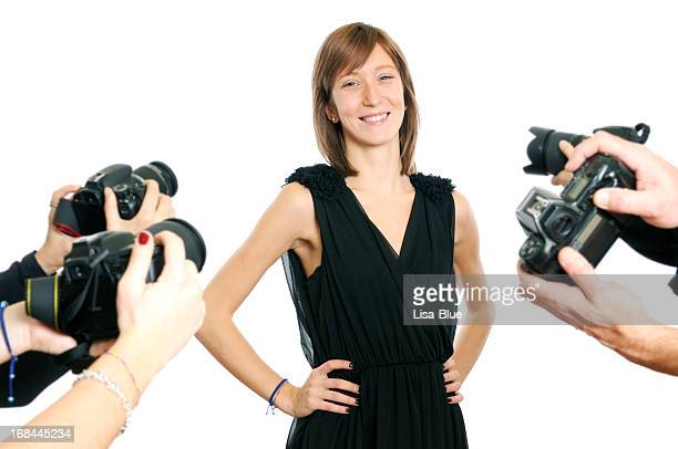 Young Actress and Paparazzi Photographer