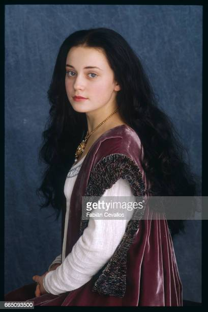 Young actress Monica Keena wearing a luxurious dress poses as Lilliana Hoffman on the set of the movie Snow White A Tale of Terror Directed by...