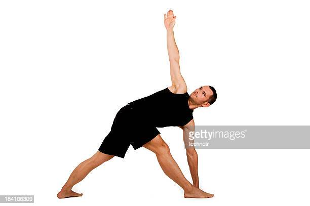Young adult man practicing yoga