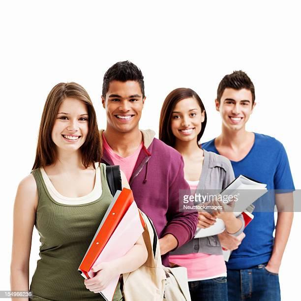 Junger Erwachsener Schüler-isoliert