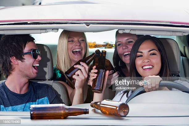 young adults drinking and driving - Death Trap