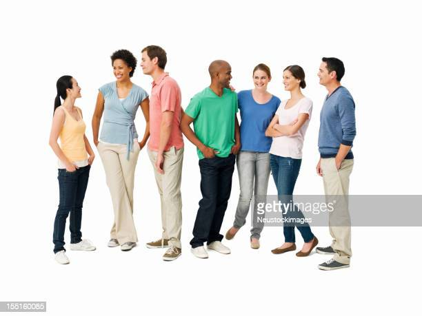Young Adults Having Conversations - Isolated