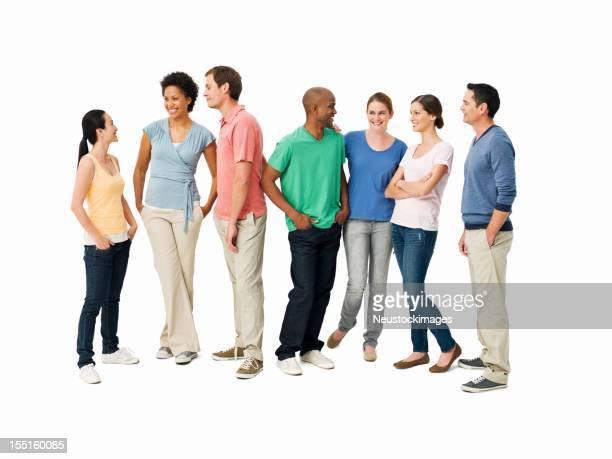 Junge Erwachsene, die Gespräche-isoliert