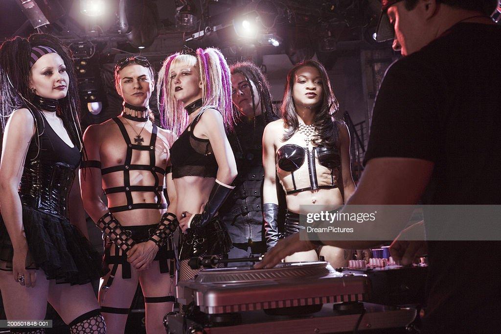 Young adults on dancefloor in nightclub