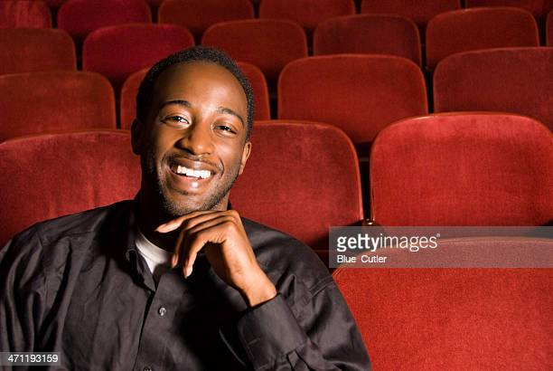 Young African American Male in theater